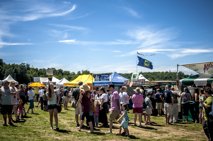 Visitors to Craftproducers Vermont Art and Craft Festivals