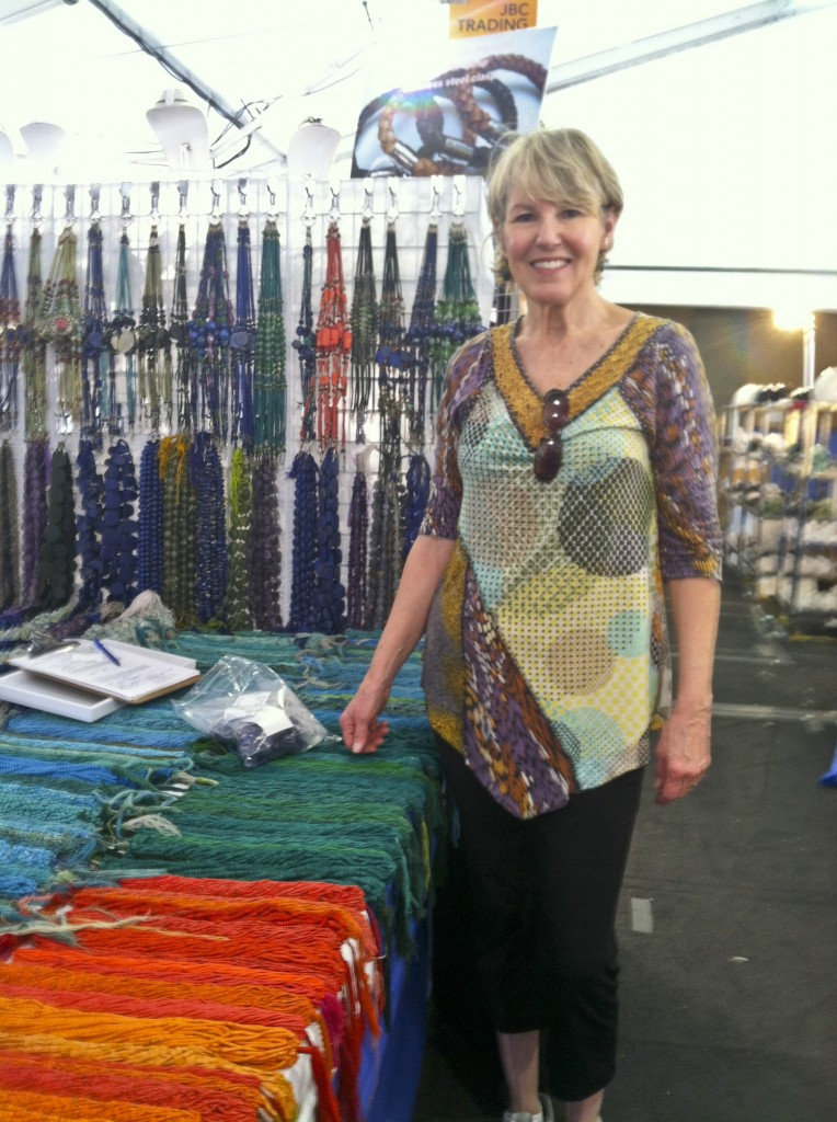 Jeweler Karen Cardoza at the Tucson AZ Gem and Mineral Show