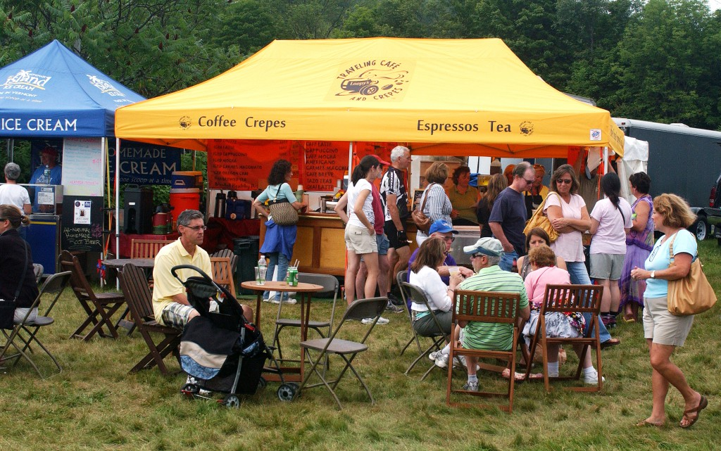 fresh espresso and crepes from Loopy's Crepes at the Southern Vermont Art and Craft Festival