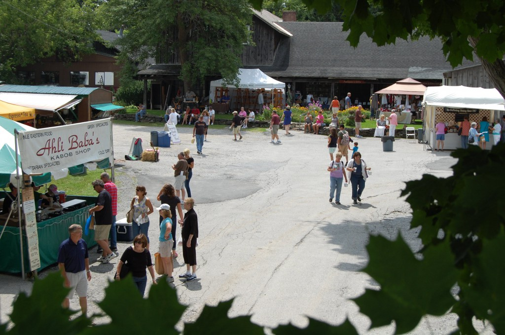 The Southern Vermont Art and Craft Festival experience at Camelot Village in Bennington, VT