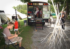Vermont Arts Exchange Art Bus at the Southern VT Art and Craft Festival in Bennington VT