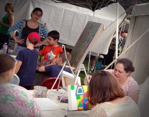 Bennington VT's Vermont Arts Exchange brings kids art projects to the Southern Vermont Art and Craft Festival