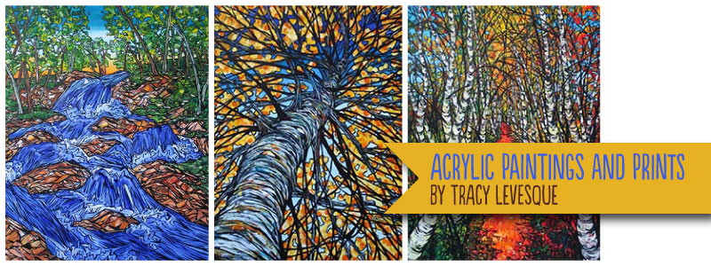 Paintings by Tracy Levesque at the Stowe Foliage Arts Festival