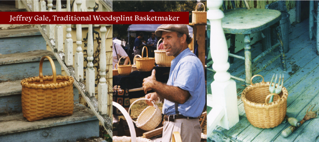 Jeffrey Gale, basketmaker, at the Manchester Fall Art and Craft Festival