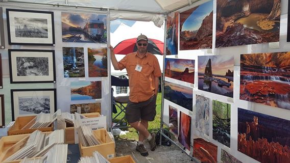 photography booth at the Southern Vermont Art and Craft Festival in Bennington VT