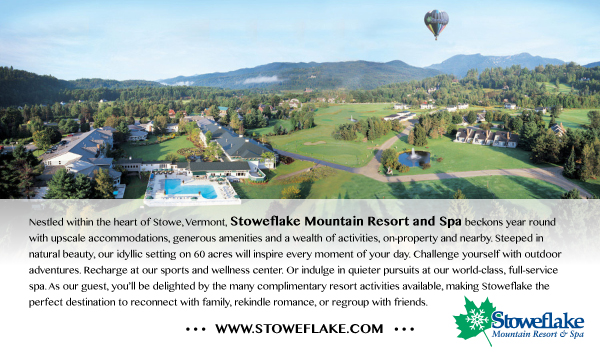 The Stowflake Resort in Stowe, Vermont is a Sponsor of the Stowe Foliage Arts Festival