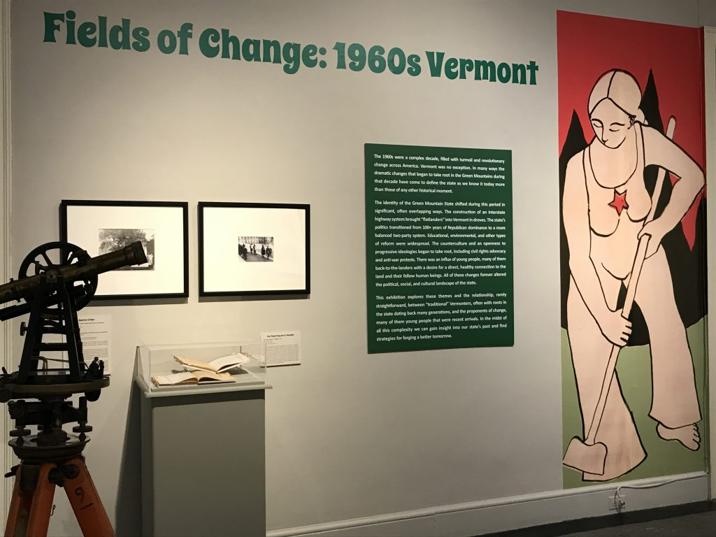 Fields of Change exhibit at the Bennington Musem